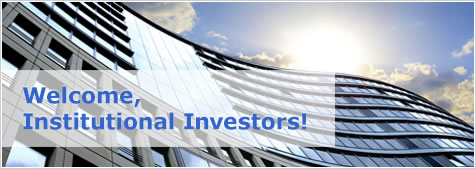 Welcome, Institutional Investors!
