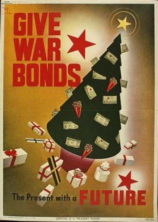 Poster: Give War Bonds - A Present with a Future.
